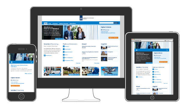 Responsive design: website RVO